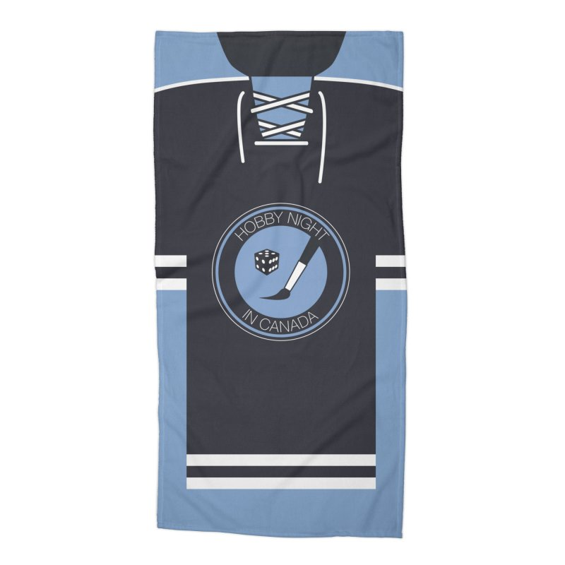 Hobby Night Hockey Sweater Accessories Beach Towel by Hobby Night in Canada Podcast