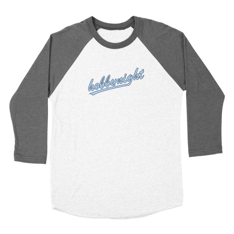 Hobby Night - Play Ball Men's Baseball Triblend Longsleeve T-Shirt by Hobby Night in Canada Podcast