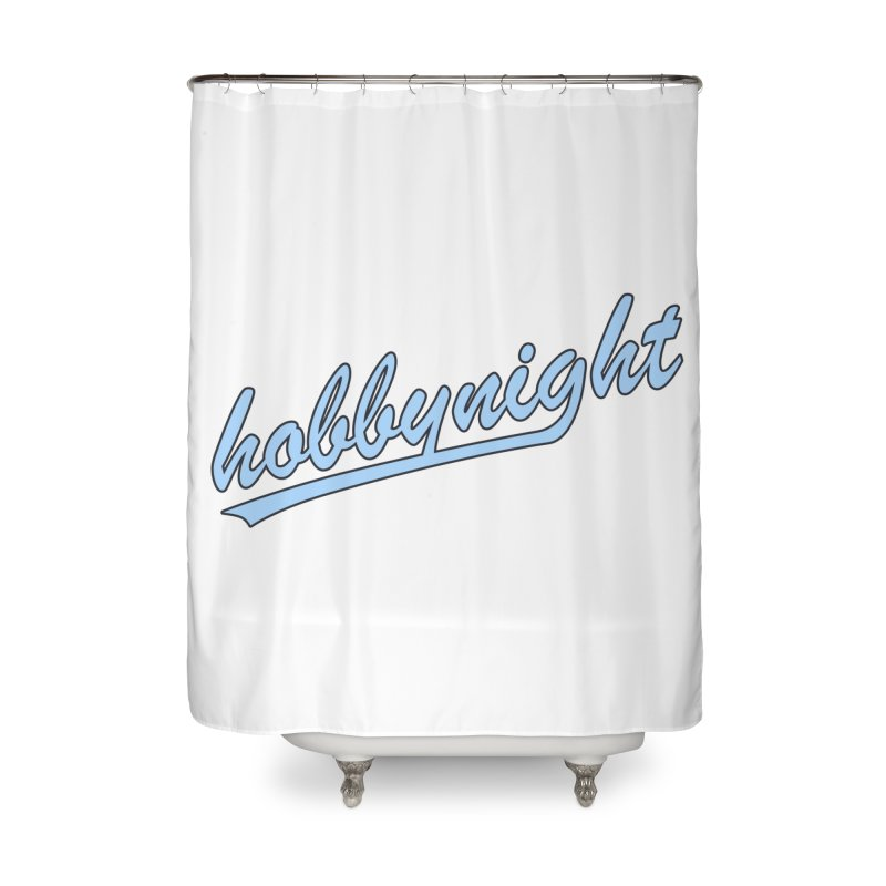 Hobby Night - Play Ball Home Shower Curtain by Hobby Night in Canada Podcast