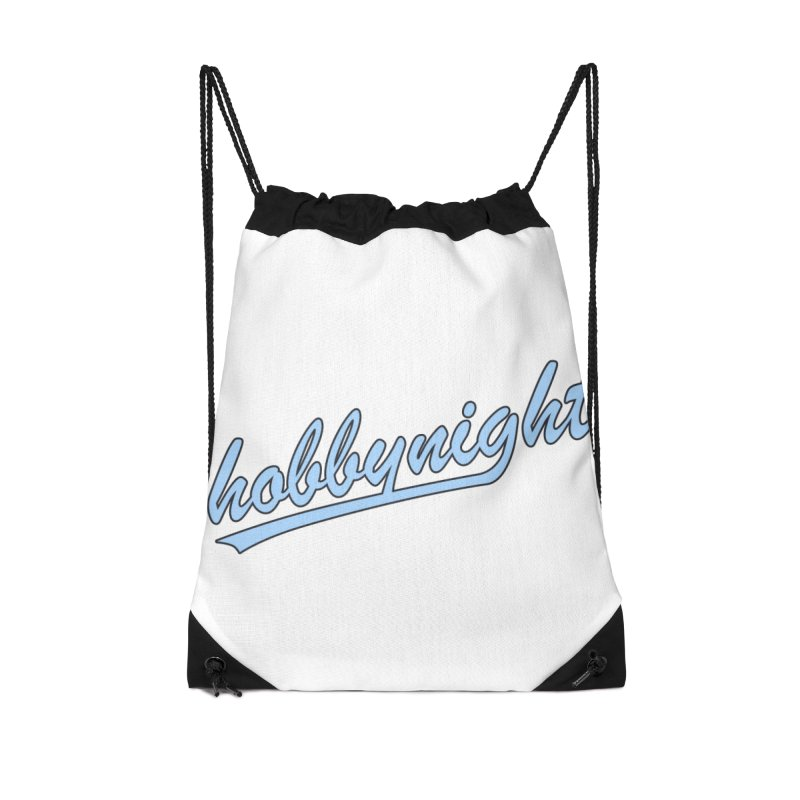 Hobby Night - Play Ball Accessories Drawstring Bag Bag by Hobby Night in Canada Podcast