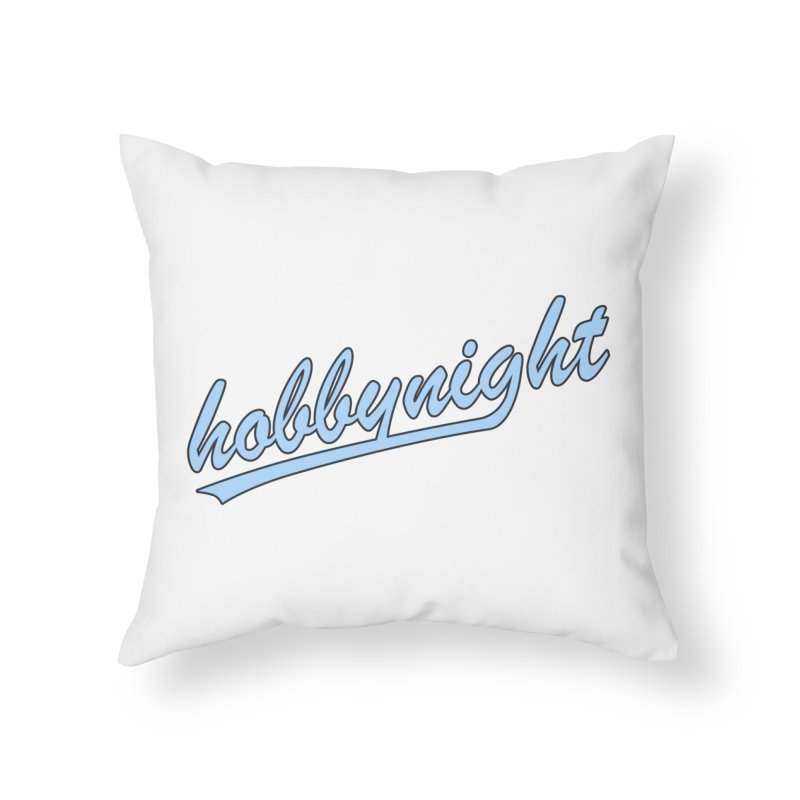 Hobby Night - Play Ball Home Throw Pillow by Hobby Night in Canada Podcast