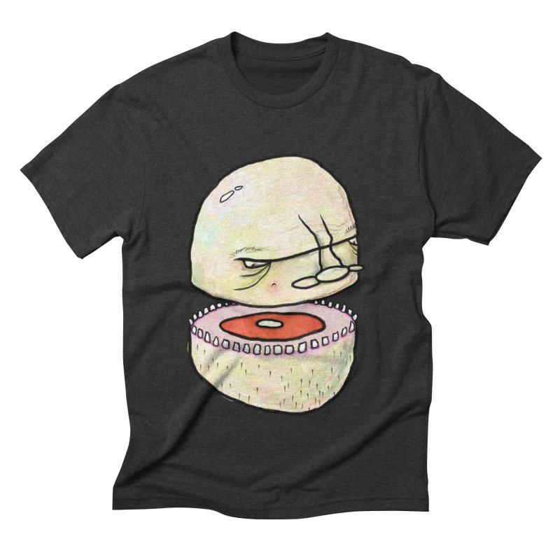 Bifurcated Head Men's Triblend T-Shirt by Hodge