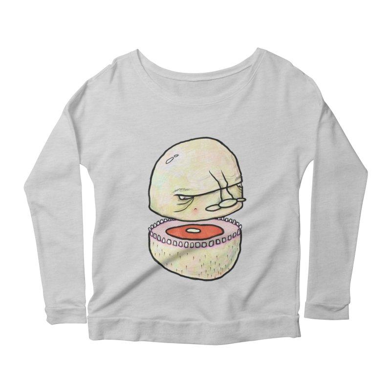 Bifurcated Head Women's Scoop Neck Longsleeve T-Shirt by Hodge
