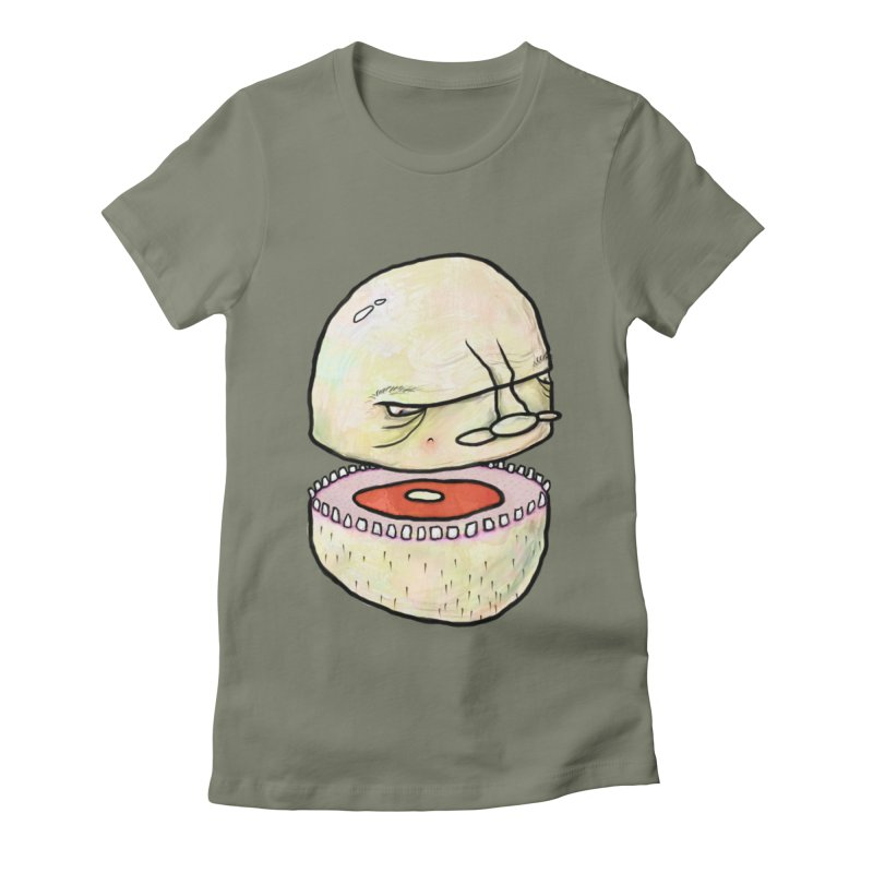 Bifurcated Head Women's Fitted T-Shirt by Hodge
