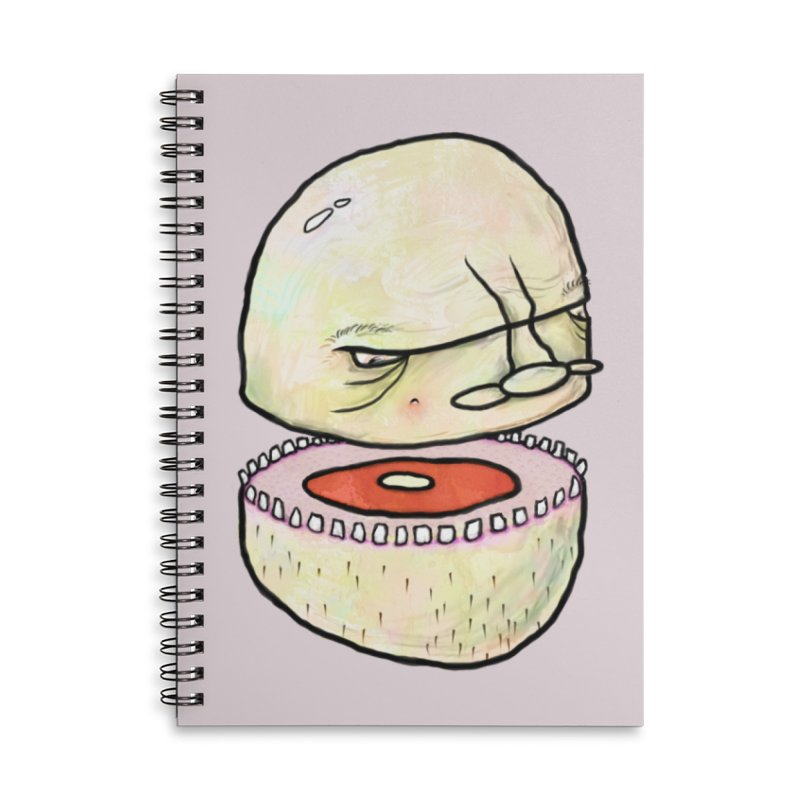 Bifurcated Head Accessories Lined Spiral Notebook by Hodge