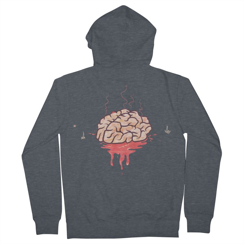 It's Somebody's Brain Men's French Terry Zip-Up Hoody by Hodge