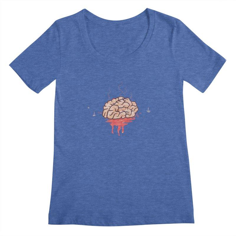 It's Somebody's Brain Women's Regular Scoop Neck by Hodge