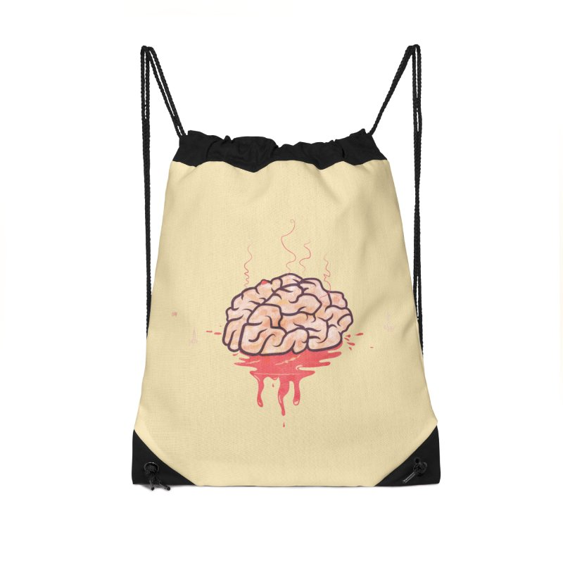 It's Somebody's Brain Accessories Drawstring Bag Bag by Hodge