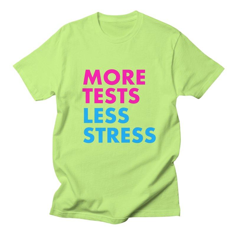 More tests less stress - sporty Men's Regular T-Shirt by hogfish's Artist Shop