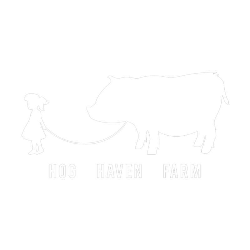 Hog Haven Farm 'Girl Walking Pig' White by Hog Haven Farm - Official Apparel
