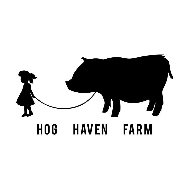 Hog Haven Farm 'Girl Walking Pig' Black by Hog Haven Farm - Official Apparel