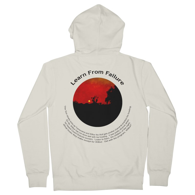 Learn From Failure in Women's French Terry Zip-Up Hoody Heather Oatmeal by Hogwash's Artist Shop