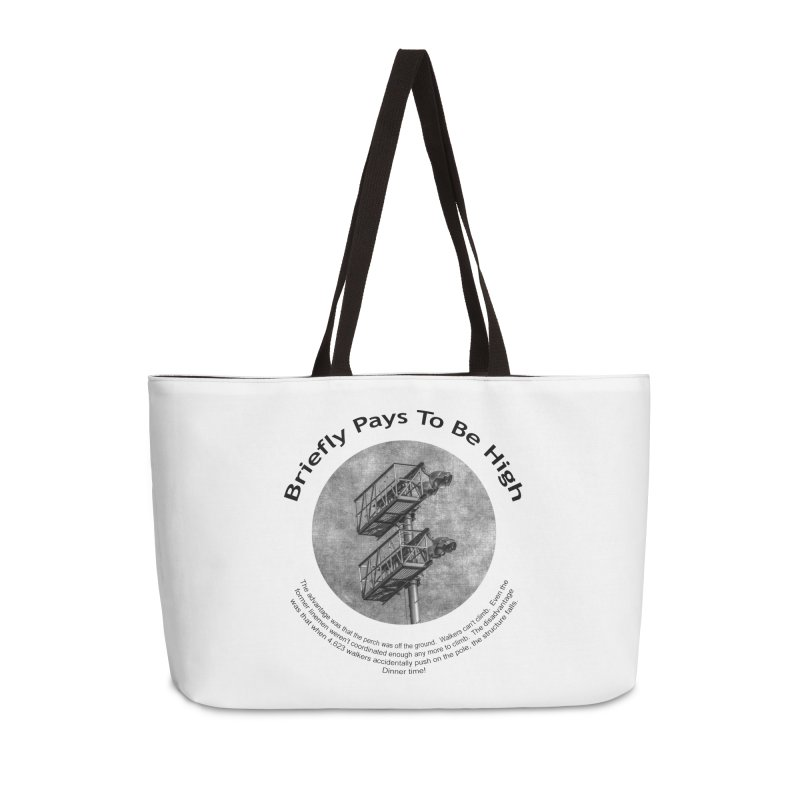 Briefly Pays To Be High Accessories Bag by Hogwash's Artist Shop