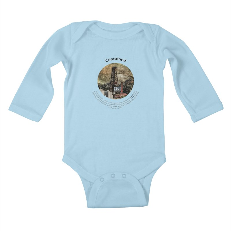Contained Kids Baby Longsleeve Bodysuit by Hogwash's Artist Shop