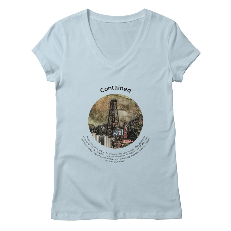 Contained Women's V-Neck by Hogwash's Artist Shop