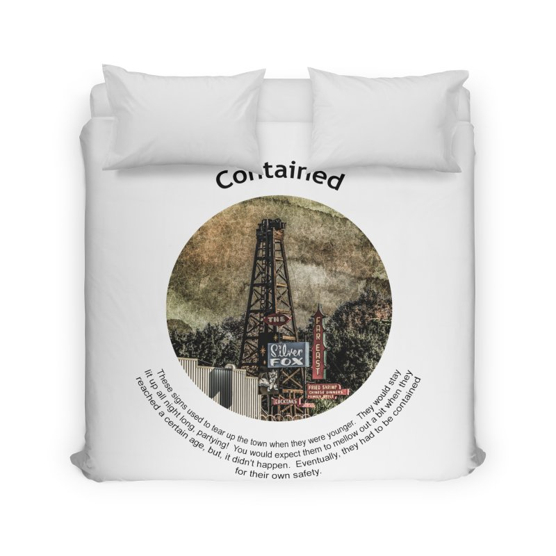 Contained Home Duvet by Hogwash's Artist Shop