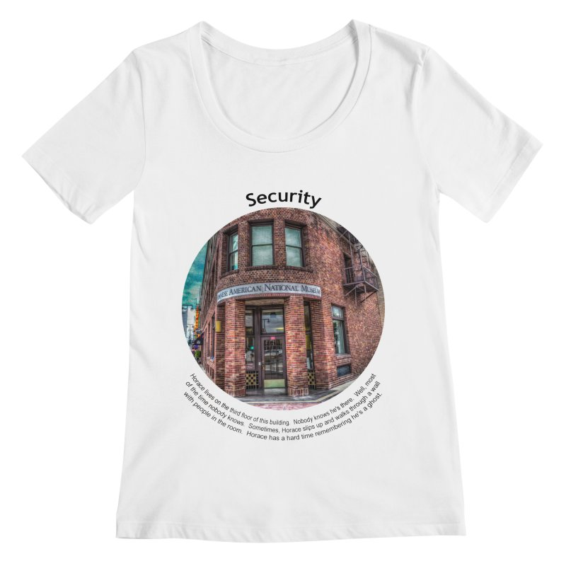 Security Women's Scoopneck by Hogwash's Artist Shop