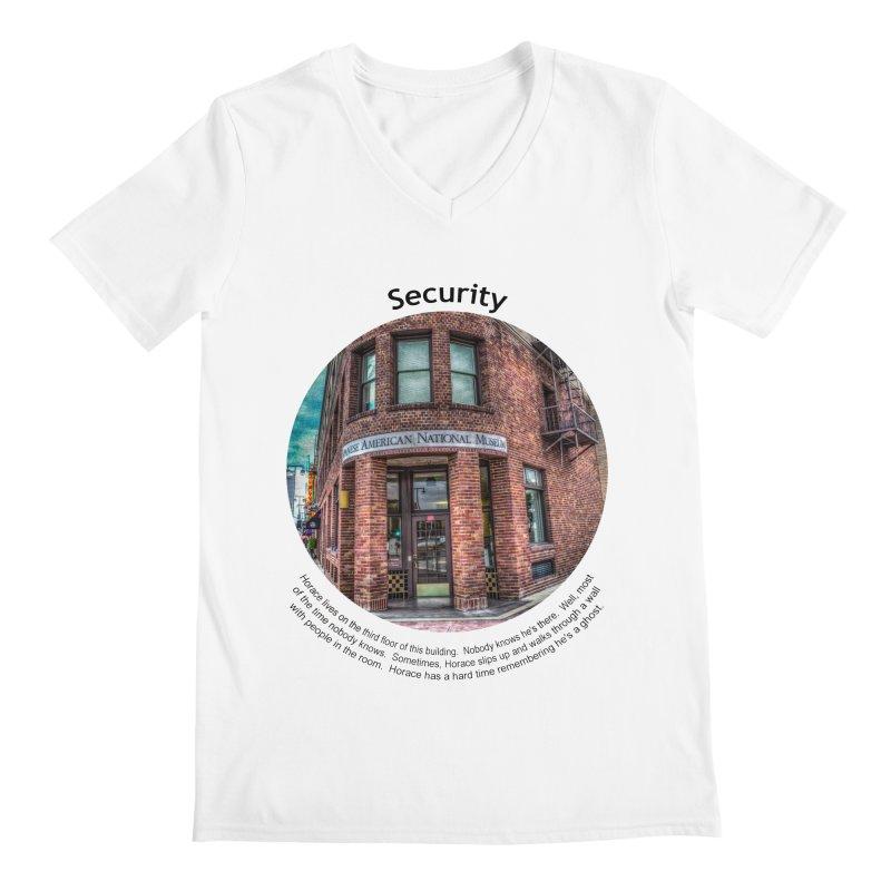 Security Men's Regular V-Neck by Hogwash's Artist Shop