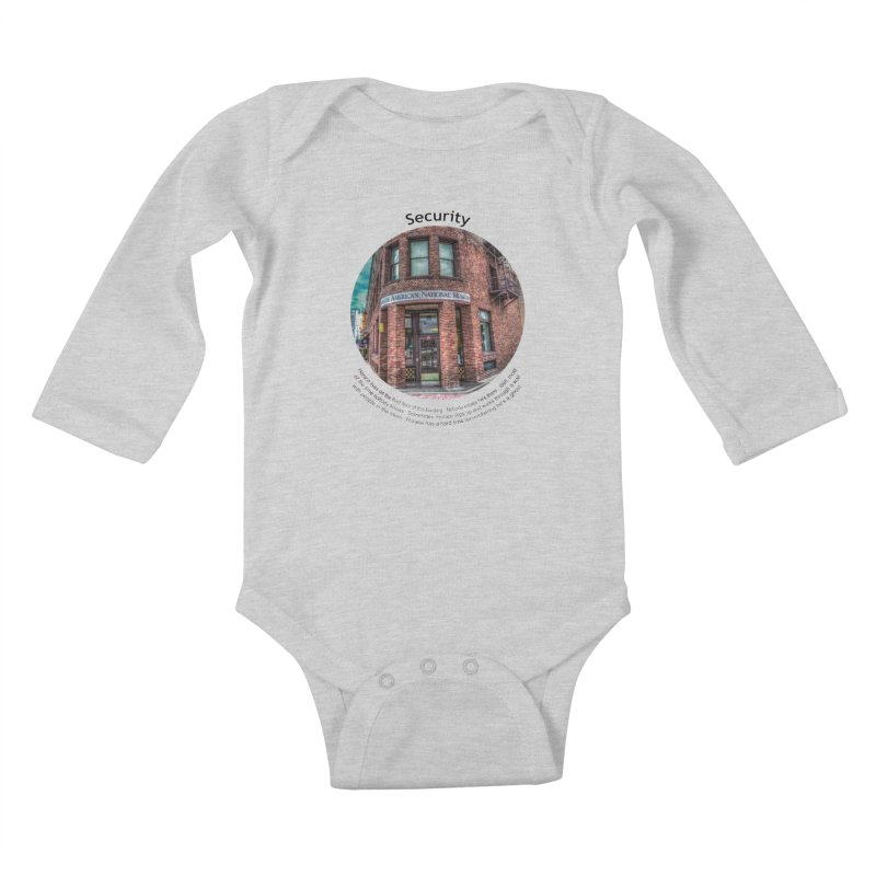 Security Kids Baby Longsleeve Bodysuit by Hogwash's Artist Shop