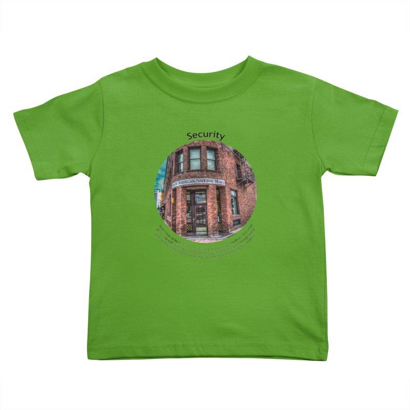 Security Kids Toddler T-Shirt by Hogwash's Artist Shop