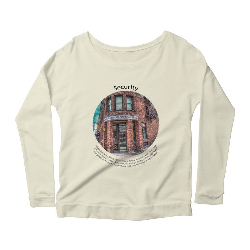 Security Women's Longsleeve Scoopneck  by Hogwash's Artist Shop