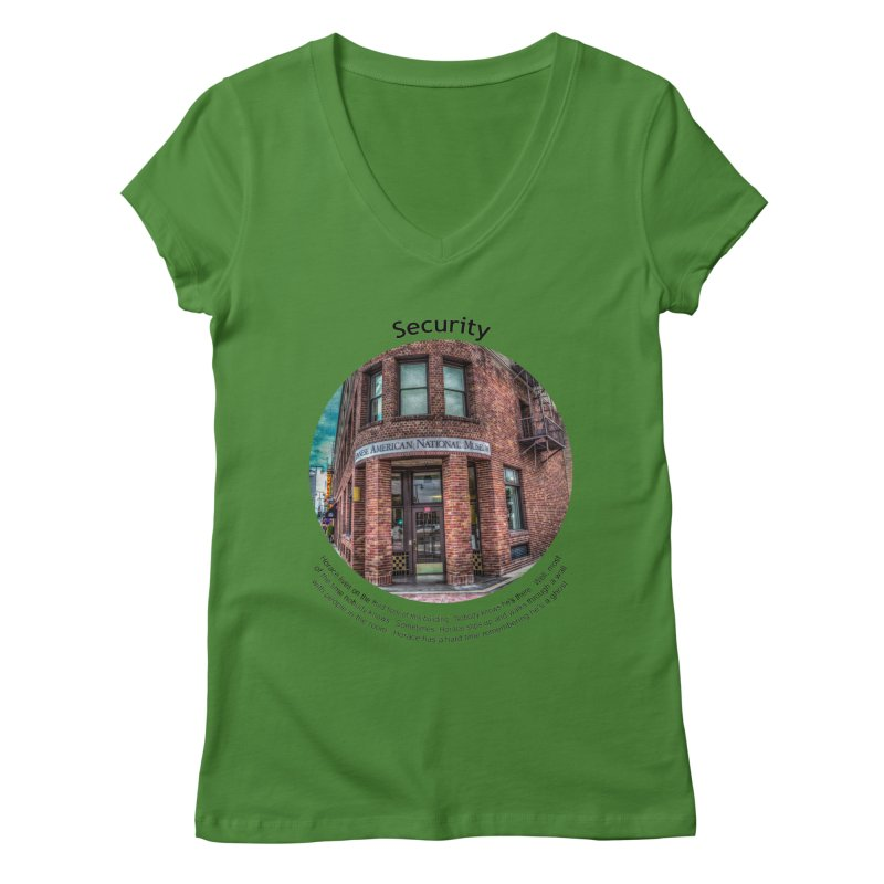 Security Women's V-Neck by Hogwash's Artist Shop