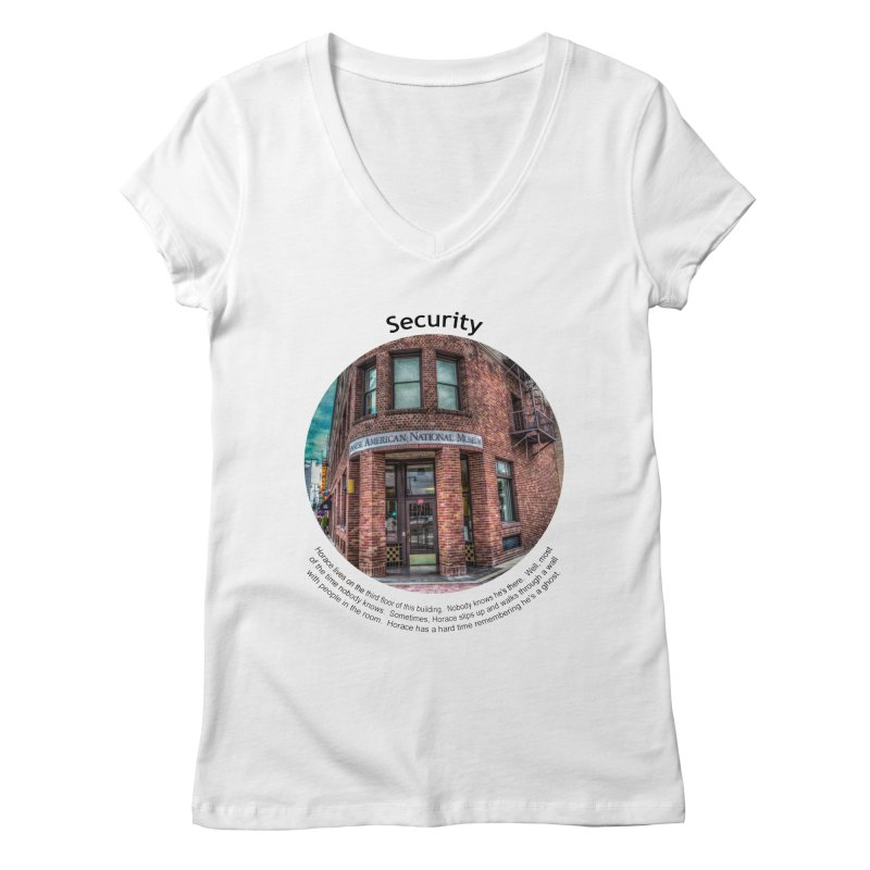 Security Women's Regular V-Neck by Hogwash's Artist Shop