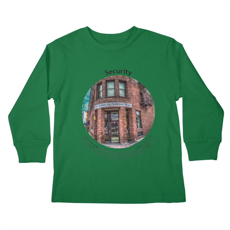 Security Kids Longsleeve T-Shirt by Hogwash's Artist Shop