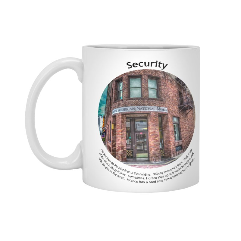 Security Accessories Standard Mug by Hogwash's Artist Shop