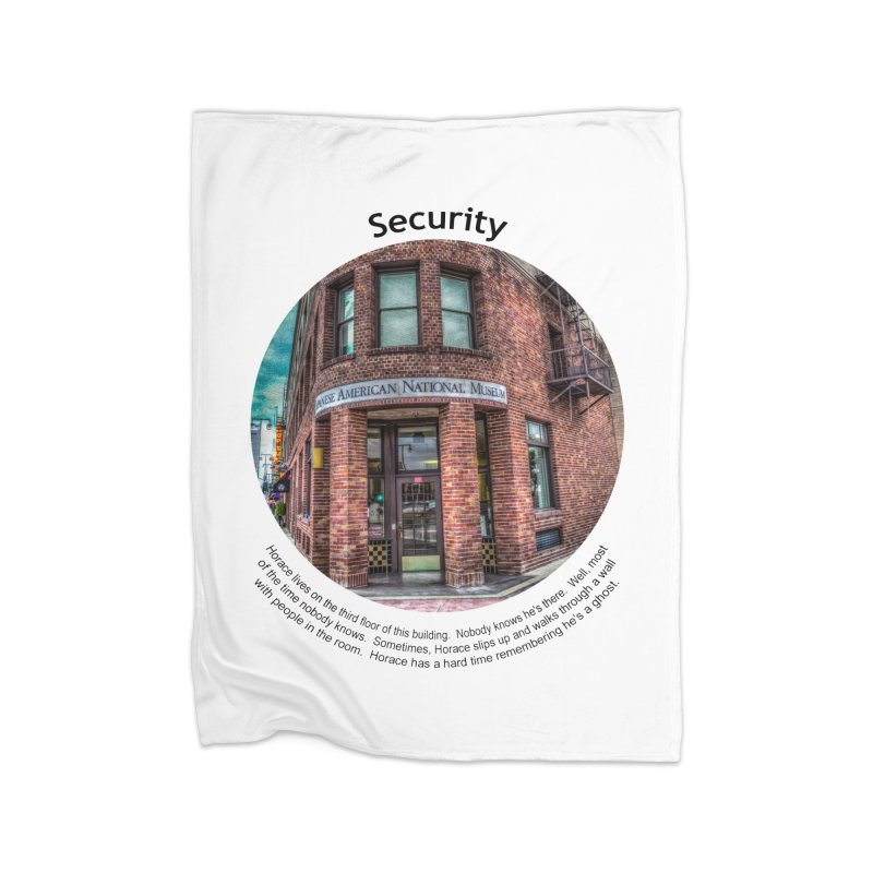 Security Home Fleece Blanket Blanket by Hogwash's Artist Shop