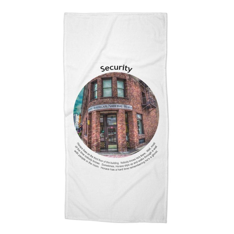 Security Accessories Beach Towel by Hogwash's Artist Shop