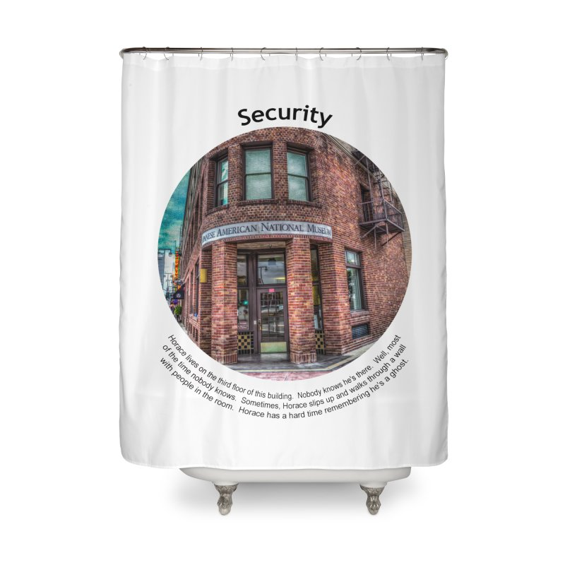 Security Home Shower Curtain by Hogwash's Artist Shop