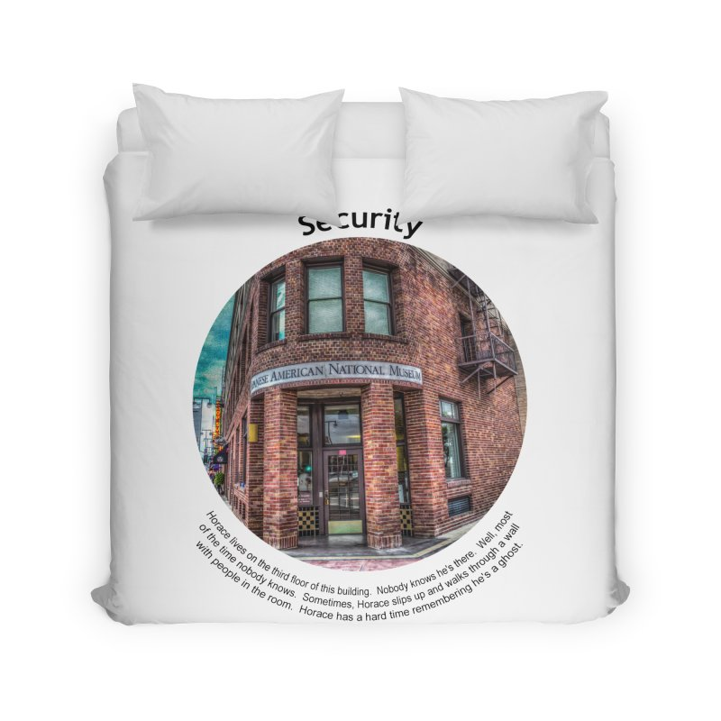 Security Home Duvet by Hogwash's Artist Shop