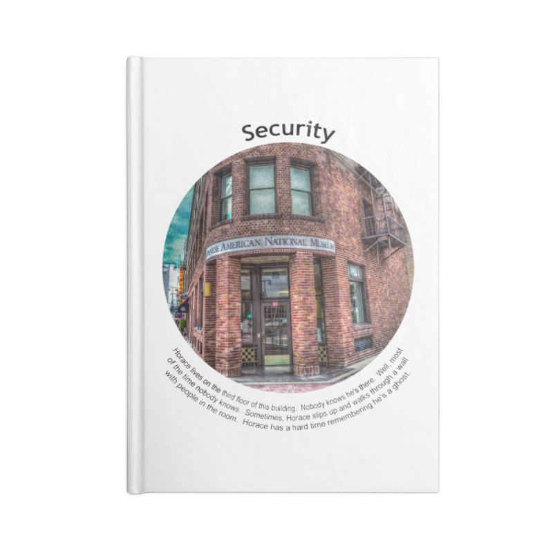 Security Accessories Notebook by Hogwash's Artist Shop