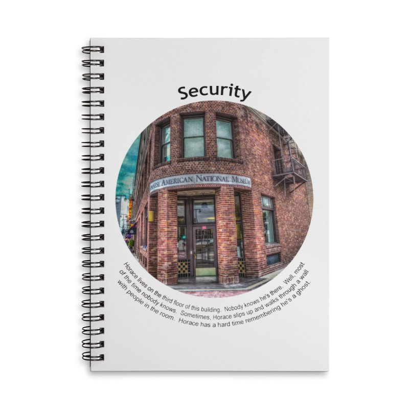 Security Accessories Lined Spiral Notebook by Hogwash's Artist Shop