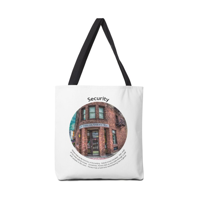 Security Accessories Tote Bag Bag by Hogwash's Artist Shop