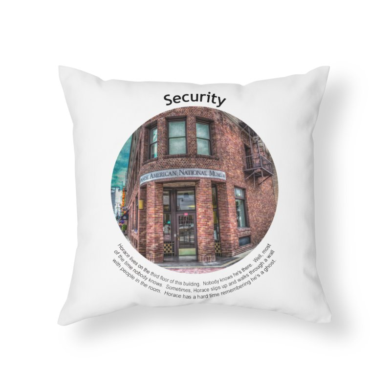 Security Home Throw Pillow by Hogwash's Artist Shop