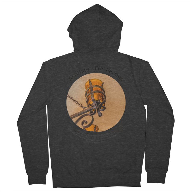 Available For Parties Men's French Terry Zip-Up Hoody by Hogwash's Artist Shop