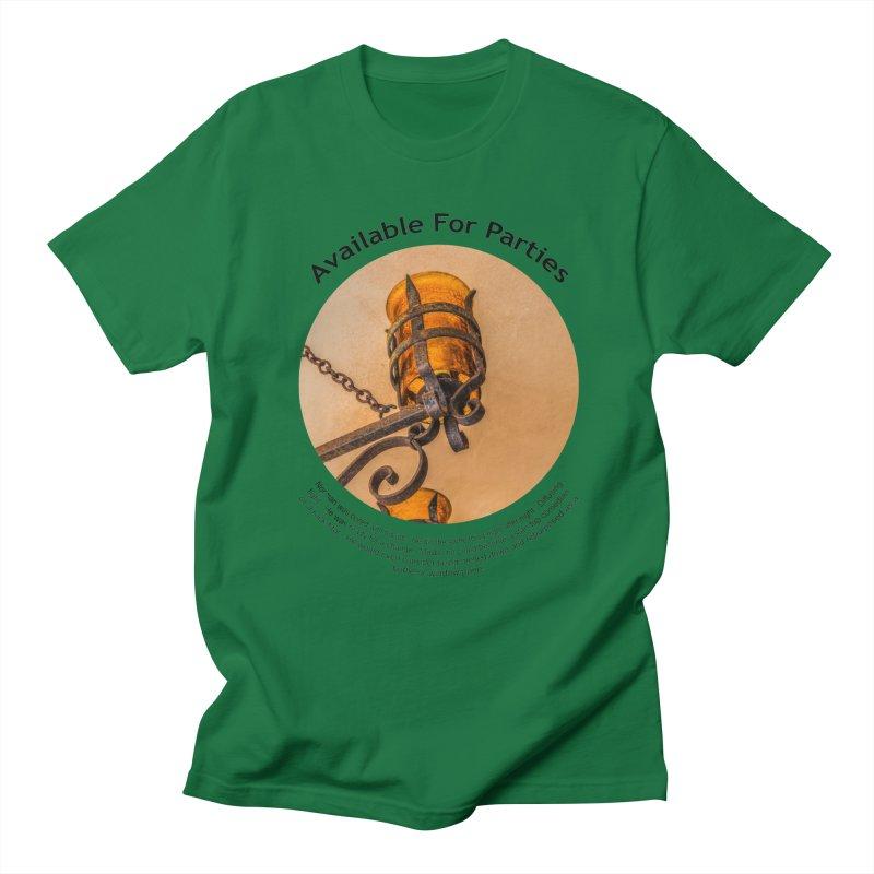 Available For Parties Men's Regular T-Shirt by Hogwash's Artist Shop