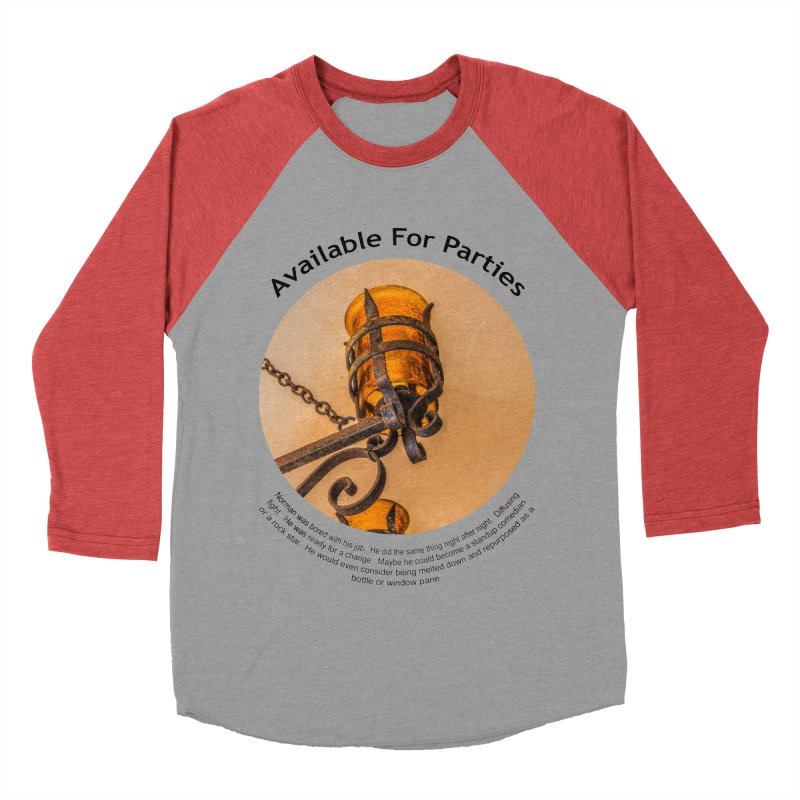 Available For Parties Men's Baseball Triblend T-Shirt by Hogwash's Artist Shop