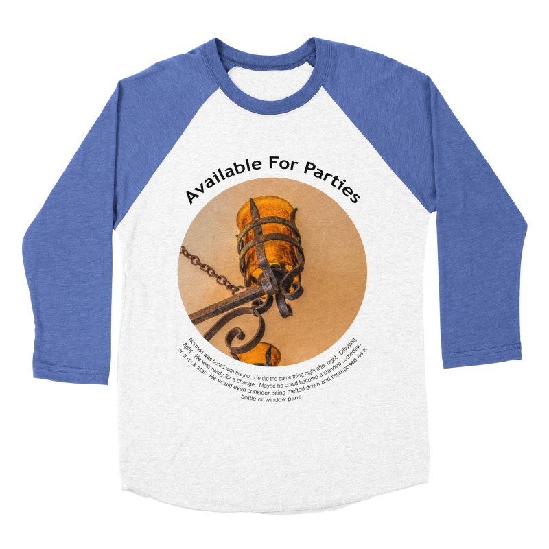 Available For Parties Men's Baseball Triblend Longsleeve T-Shirt by Hogwash's Artist Shop
