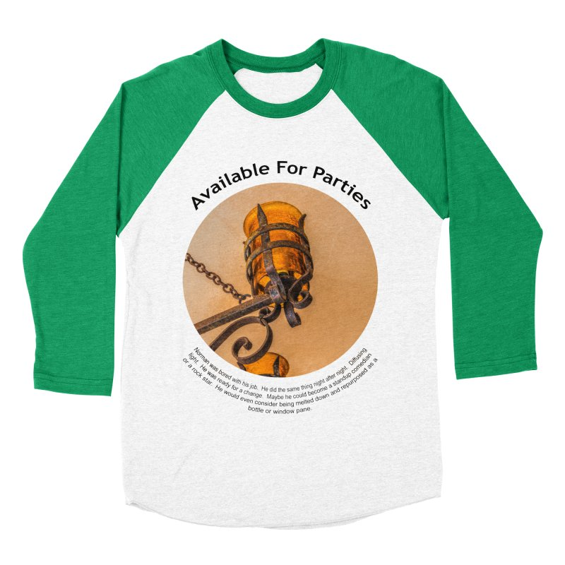 Available For Parties Men's Baseball Triblend Longsleeve T-Shirt by Hogwash's Artist Shop