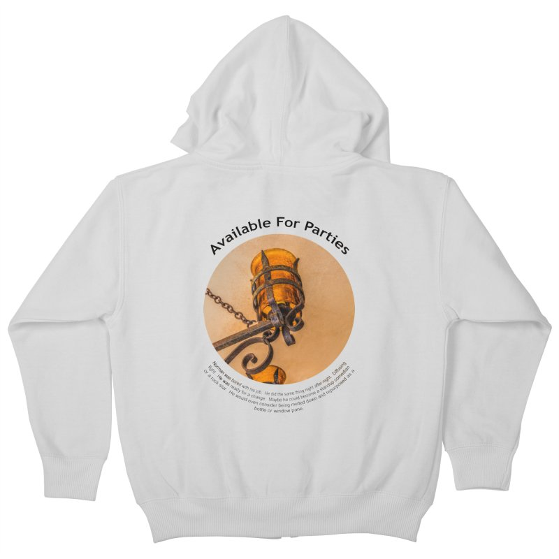 Available For Parties Kids Zip-Up Hoody by Hogwash's Artist Shop