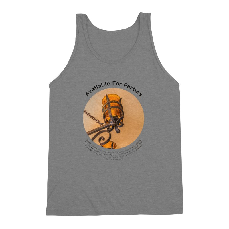 Available For Parties Men's Triblend Tank by Hogwash's Artist Shop