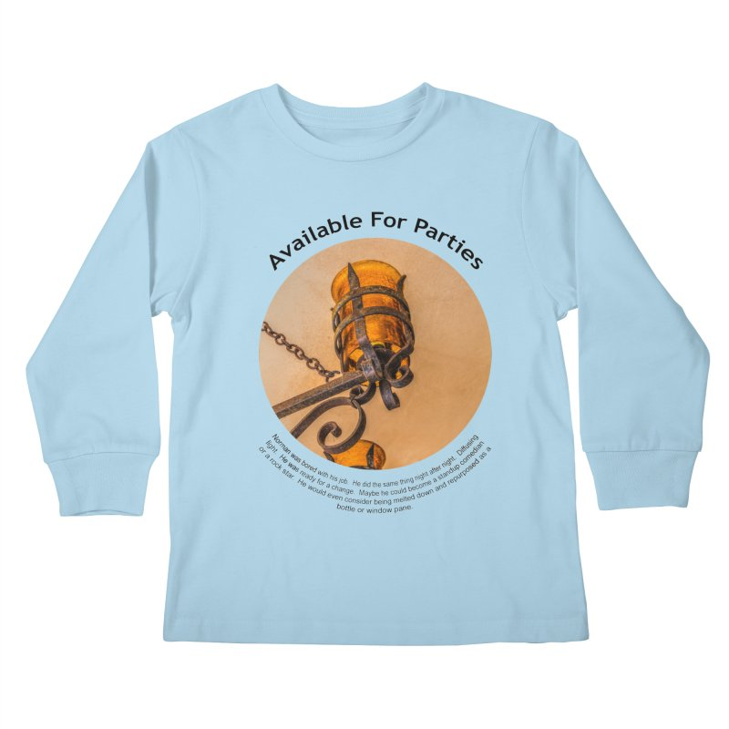 Available For Parties Kids Longsleeve T-Shirt by Hogwash's Artist Shop