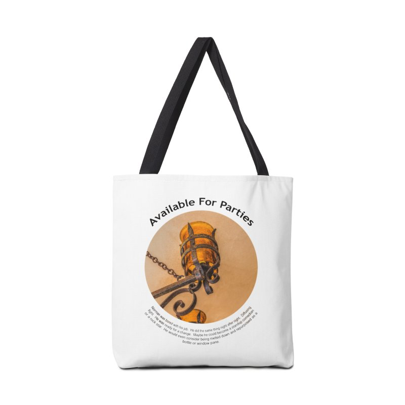 Available For Parties Accessories Tote Bag Bag by Hogwash's Artist Shop