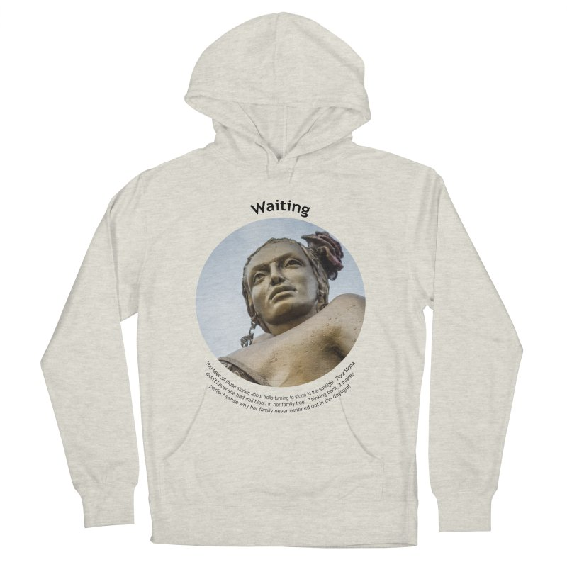 Waiting Men's French Terry Pullover Hoody by Hogwash's Artist Shop