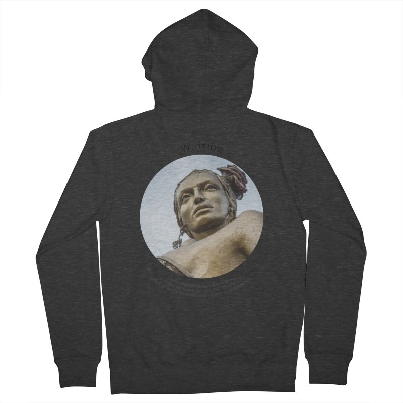 Waiting Women's French Terry Zip-Up Hoody by Hogwash's Artist Shop
