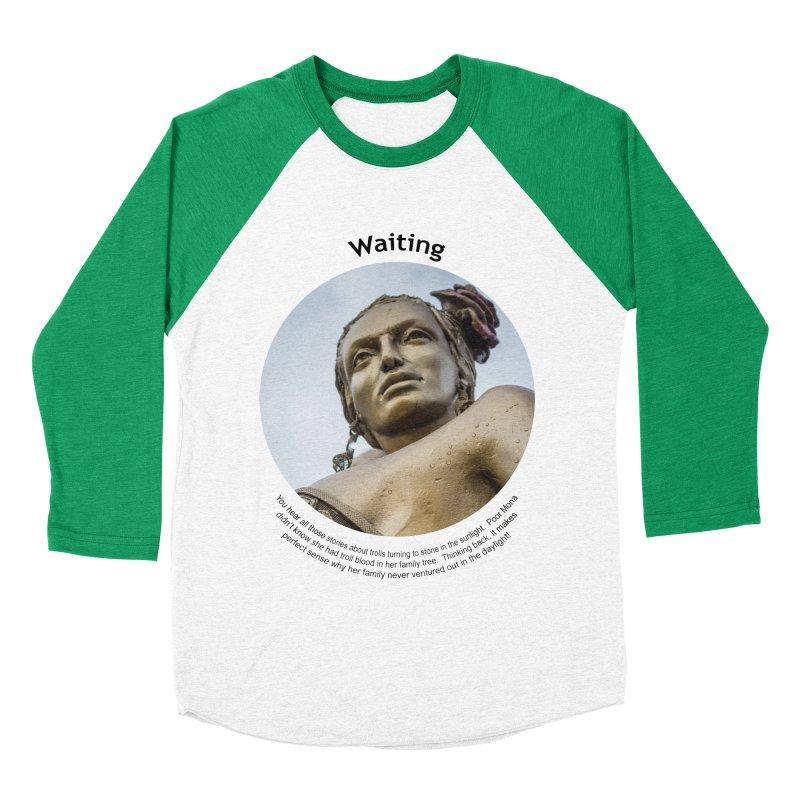 Waiting Women's Baseball Triblend Longsleeve T-Shirt by Hogwash's Artist Shop