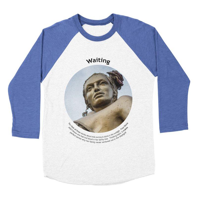 Waiting Men's Baseball Triblend Longsleeve T-Shirt by Hogwash's Artist Shop